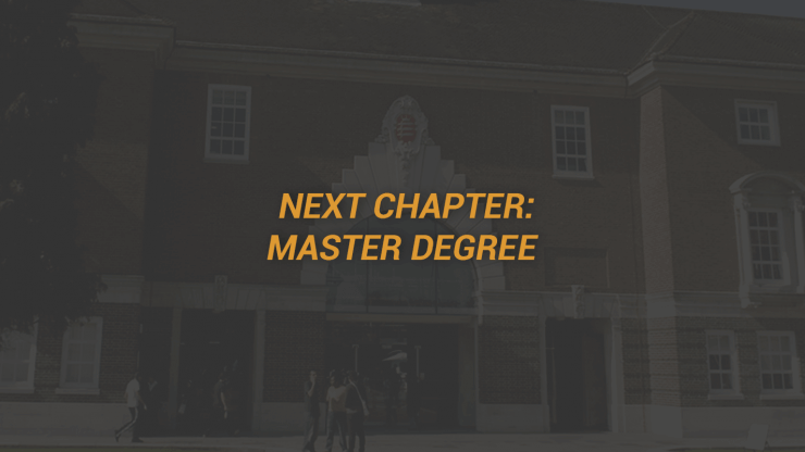 Next Chapter - Master Degree