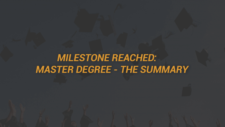 Master Degree Summary