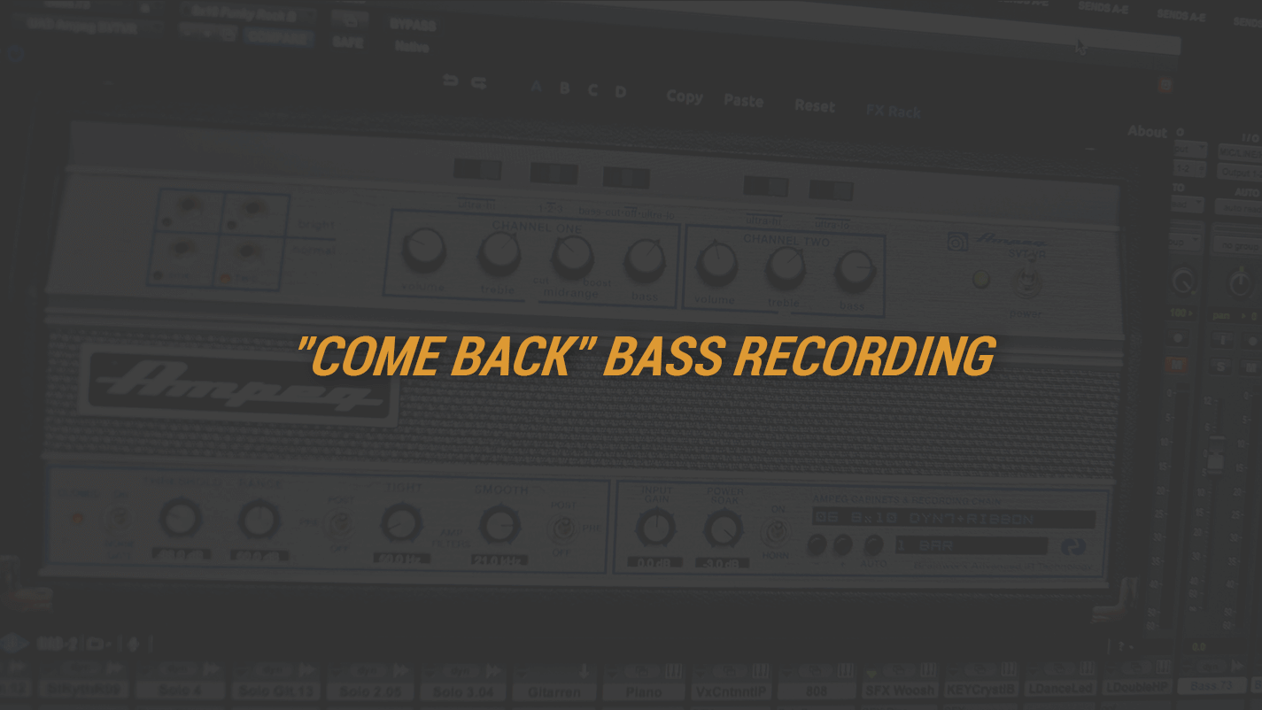 """""""Come Back"""" Bass Recording"""