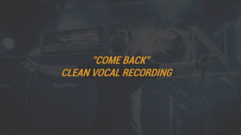 """Come Back"" Clean Vocal Recording"