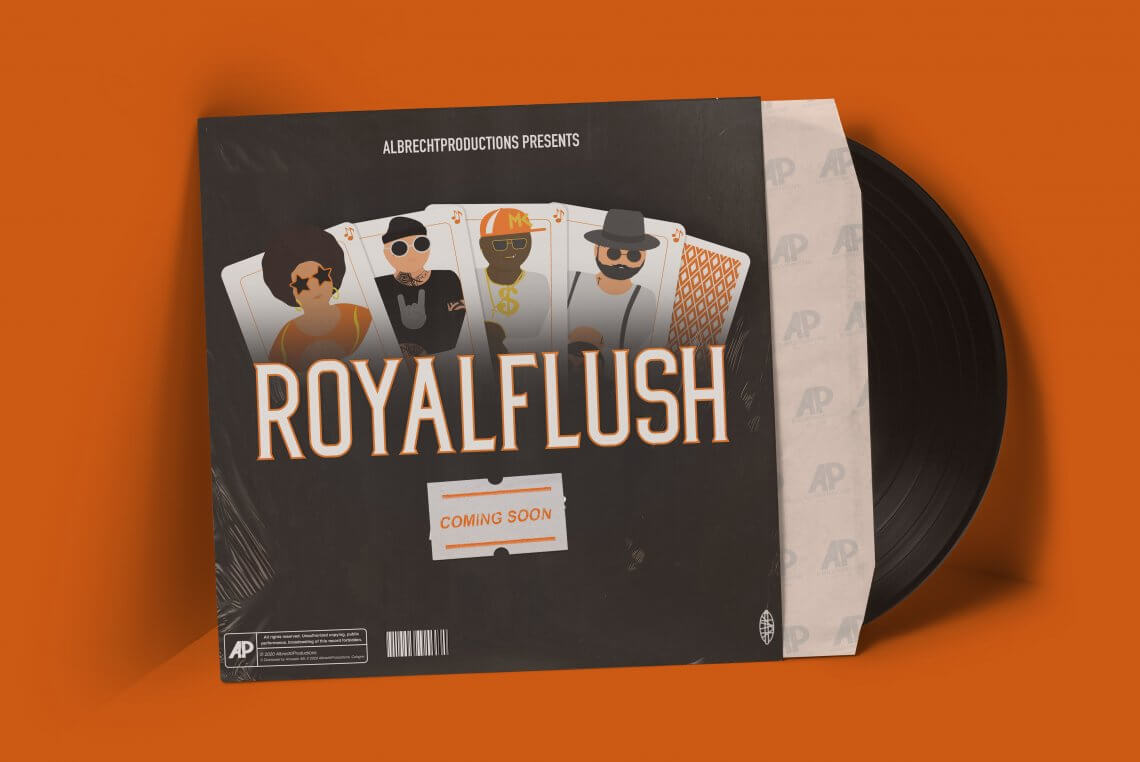 "Cover Artwork ""Royal Flush"" EP Project"